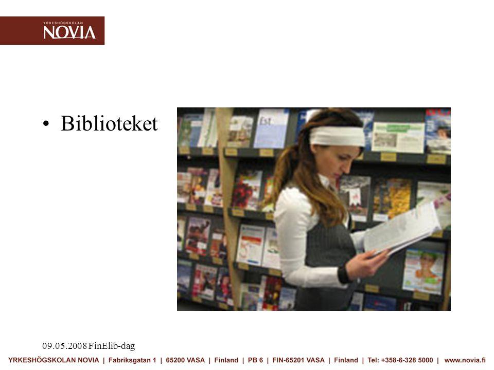 09.05.2008 FinElib-dag •Biblioteket
