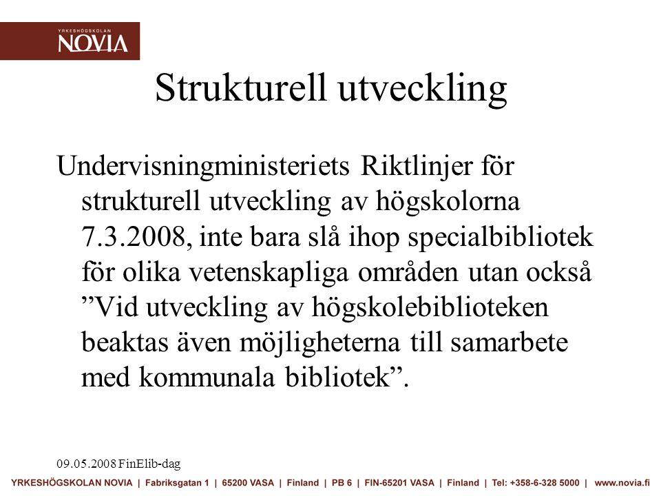 09.05.2008 FinElib-dag Utmaning •att rasera de byråkratiska hinder som idag finns när det gäller att utnyttja e-resurser och bibliotekssystem över organisationsgränserna