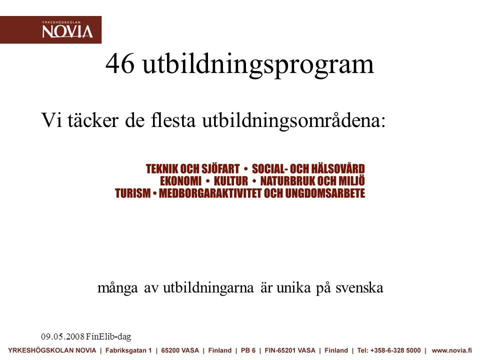 09.05.2008 FinElib-dag •Välkommen till biblioteket i Novia.