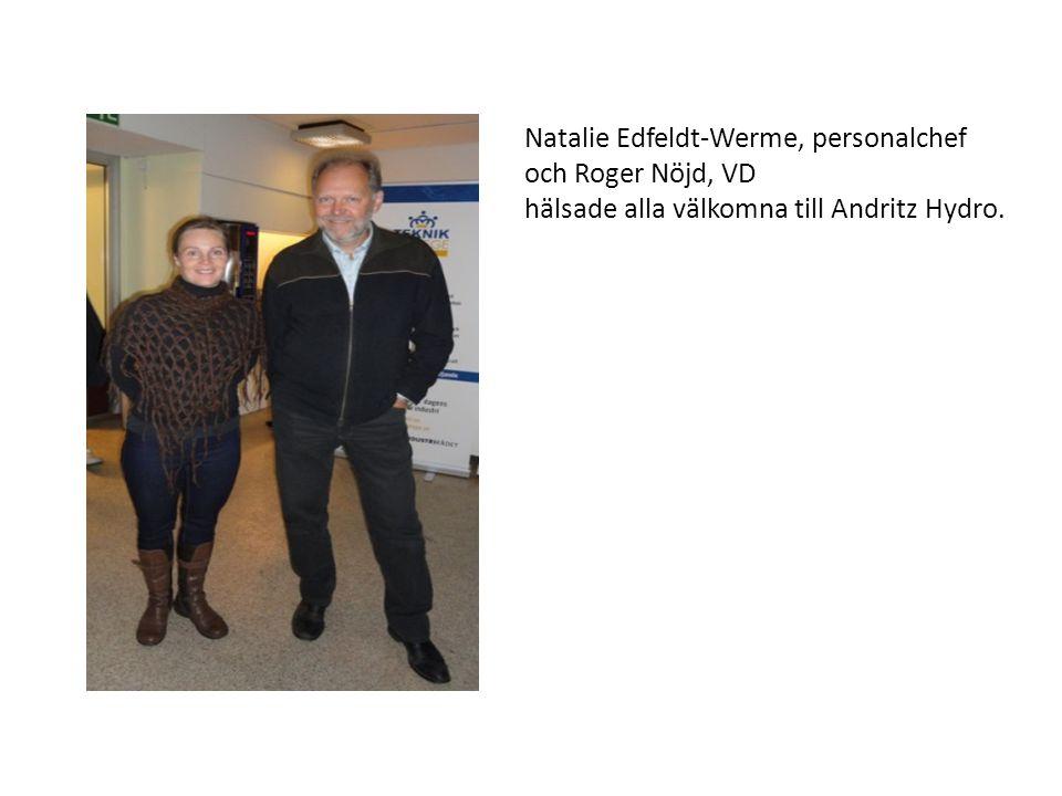 Natalie Edfeldt-Werme, personalchef och Roger Nöjd, VD hälsade alla välkomna till Andritz Hydro.