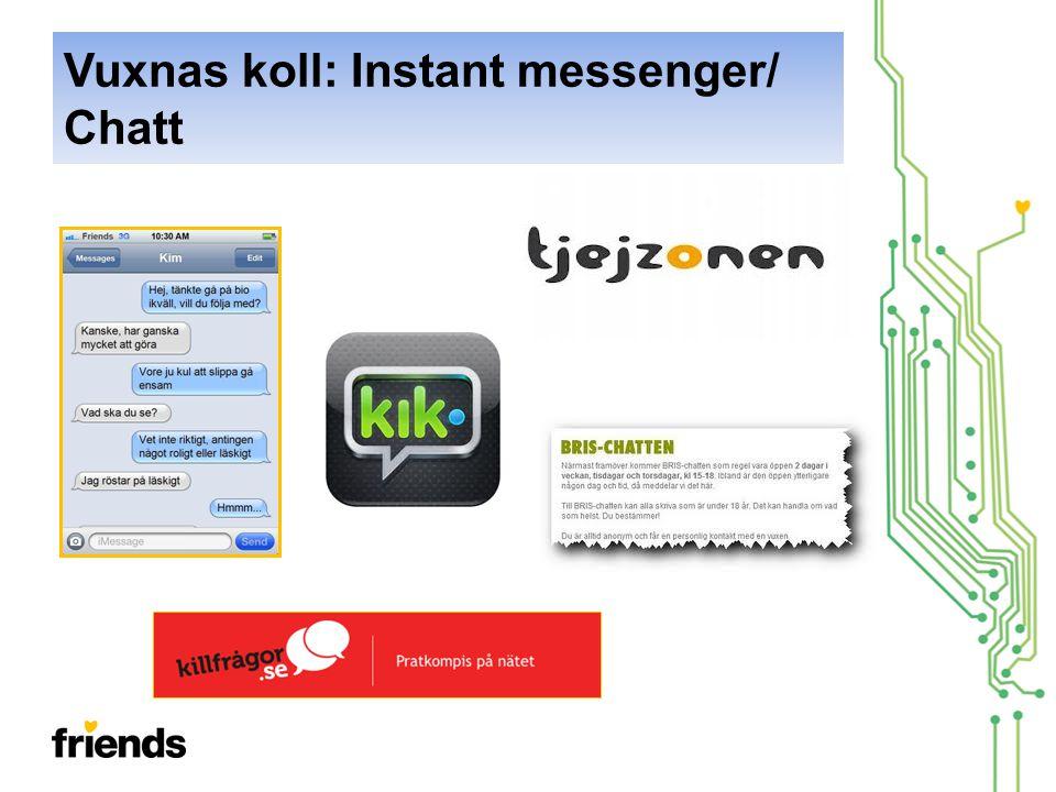 Vuxnas koll: Instant messenger/ Chatt