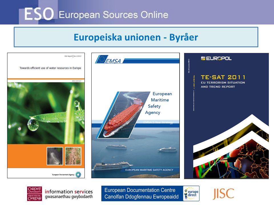 Europeiska unionen - Byråer