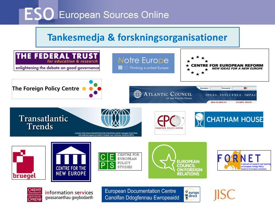 Tankesmedja & forskningsorganisationer