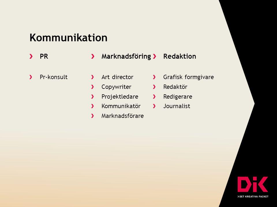 Kommunikation PR Pr-konsult Marknadsföring Art director Copywriter Projektledare Kommunikatör Marknadsförare Redaktion Grafisk formgivare Redaktör Red