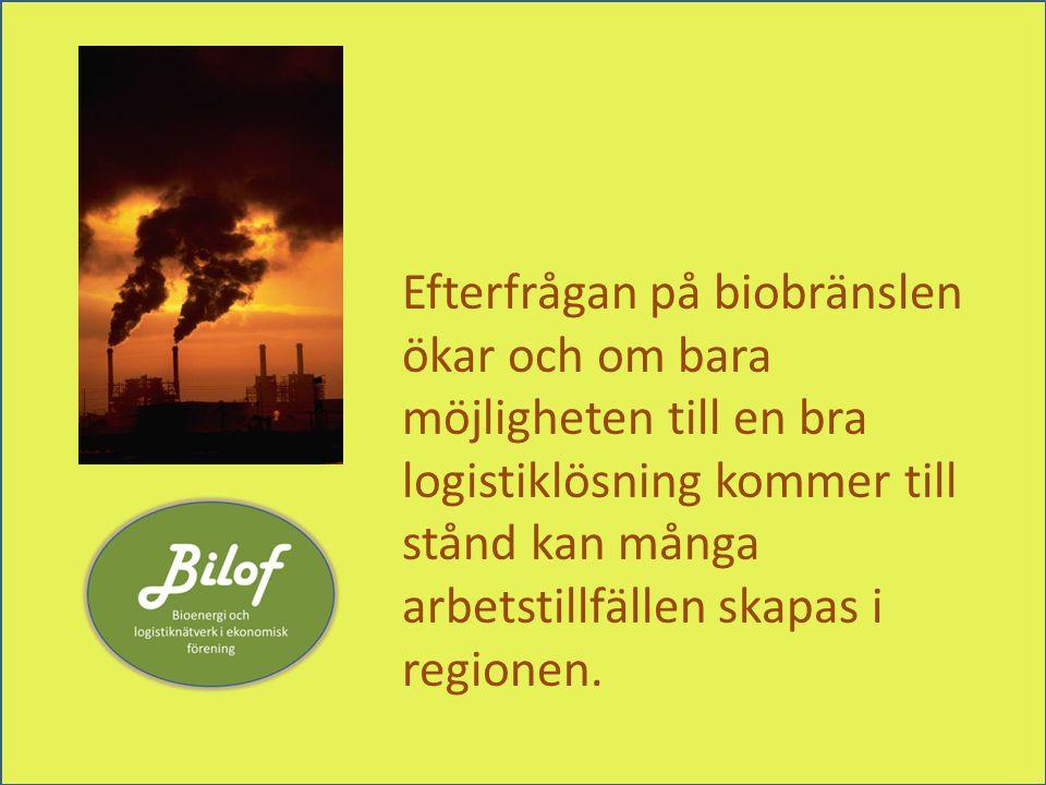 Efterfrågan på biobränslen ökar och om bara möjligheten till en bra logistiklösning kommer till stånd kan många arbetstillfällen skapas i regionen.