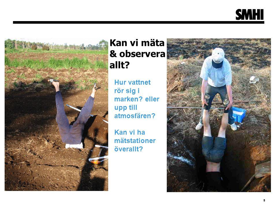 5 Kan vi mäta & observera allt? Hur vattnet rör sig i marken? eller upp till atmosfären? Kan vi ha mätstationer överallt?