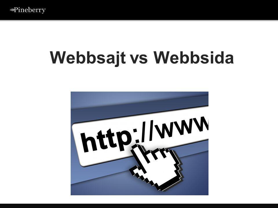 Webbsajt vs Webbsida