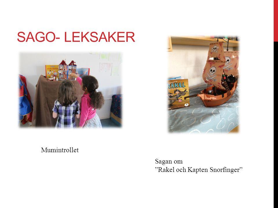 """SAGO- LEKSAKER Mumintrollet Sagan om """"Rakel och Kapten Snorfinger"""""""