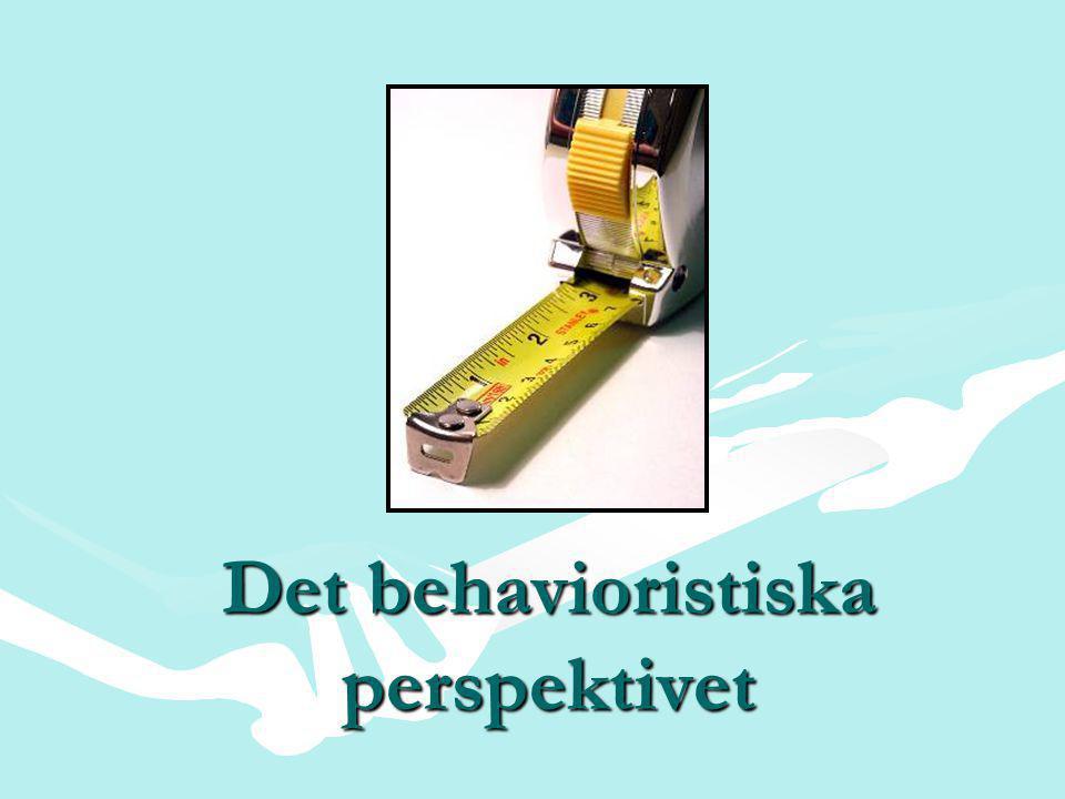 Det behavioristiska perspektivet