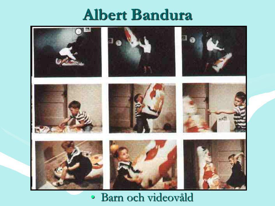 Albert Bandura •Barn och videovåld