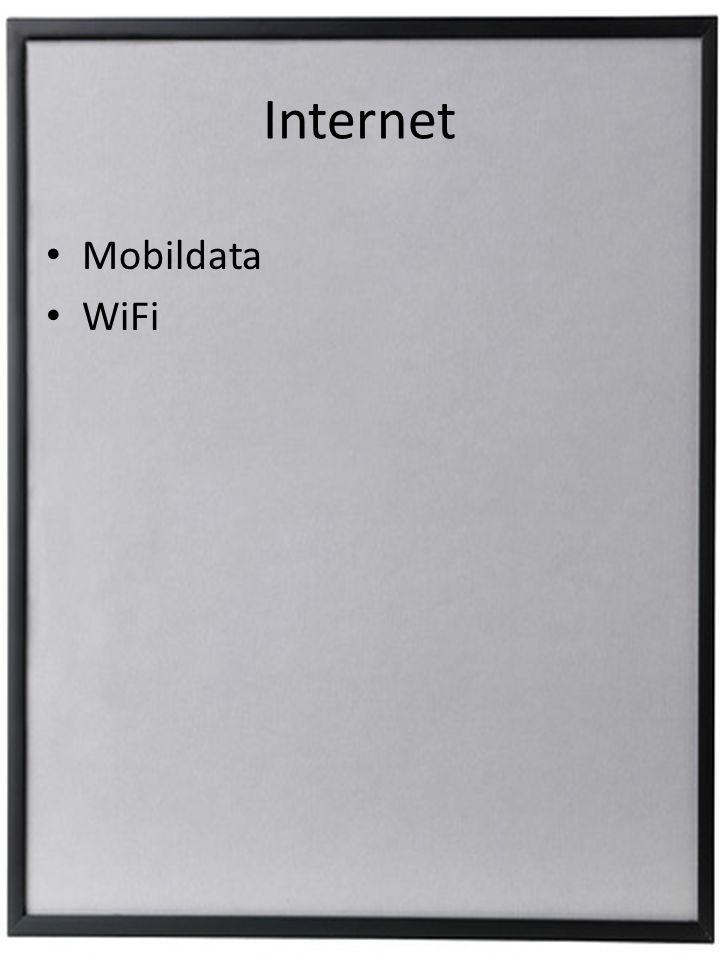 Internet • Mobildata • WiFi
