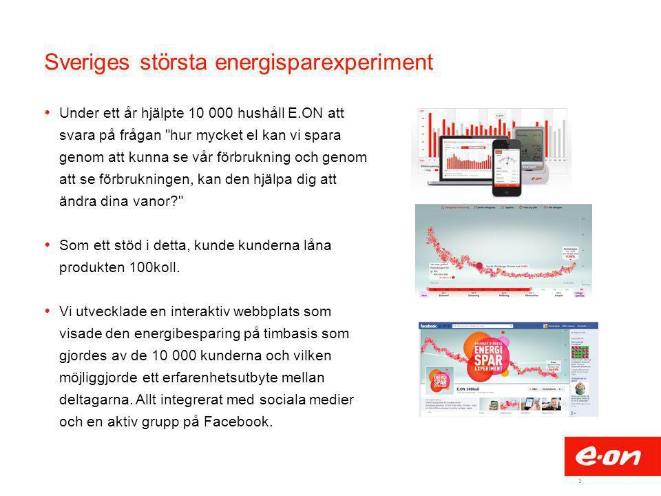 3 Sveriges största energisparexperiment  Under ett år hjälpte 10 000 hushåll E.ON att svara på frågan