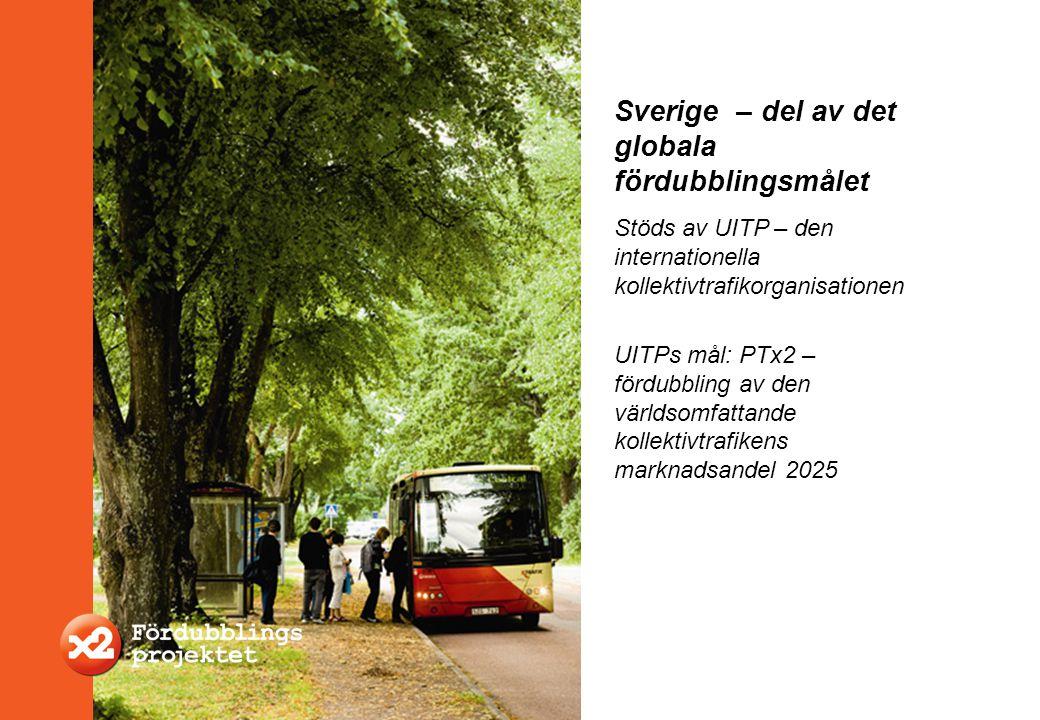Stöds av UITP – den internationella kollektivtrafikorganisationen UITPs mål: PTx2 – fördubbling av den världsomfattande kollektivtrafikens marknadsand
