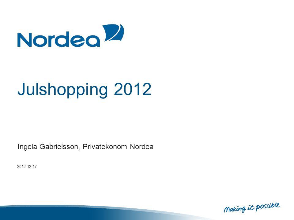 Julshopping 2012 Ingela Gabrielsson, Privatekonom Nordea 2012-12-17