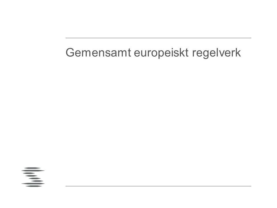 Gemensamt europeiskt regelverk