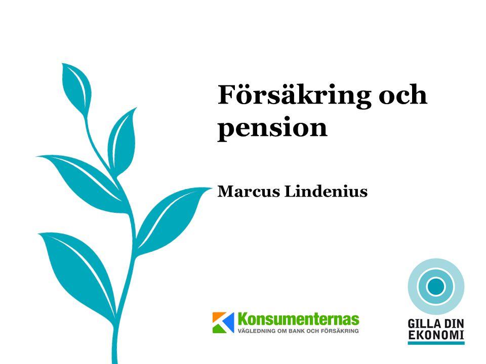 Försäkring och pension Marcus Lindenius