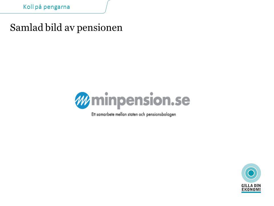 Koll på pengarna Samlad bild av pensionen