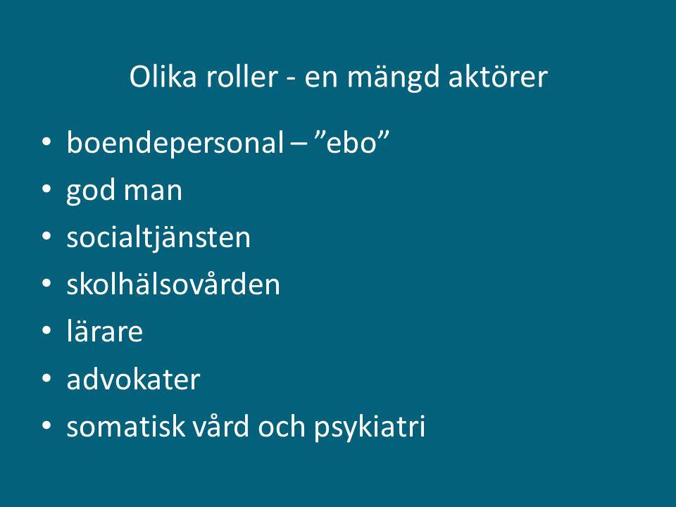 & • De allra flesta behöver bara omsorg, praktiskt, socialt och emotionellt stöd, ordnad och trygg vardag, skolgång, inte psykiatri • De flesta är inte beredda att tala om det förflutna om och om igen • Etablera och upprätthålla kontakt: behov här och nu (Även de flesta svenska 17-åriga pojkar avskyr psykologsnack )