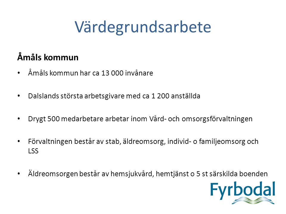 Värdegrundsarbete Åmåls kommun • Åmåls kommun har ca 13 000 invånare • Dalslands största arbetsgivare med ca 1 200 anställda • Drygt 500 medarbetare a