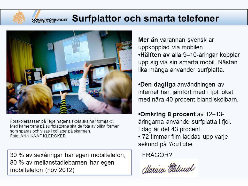 Mer än varannan svensk är uppkopplad via mobilen.