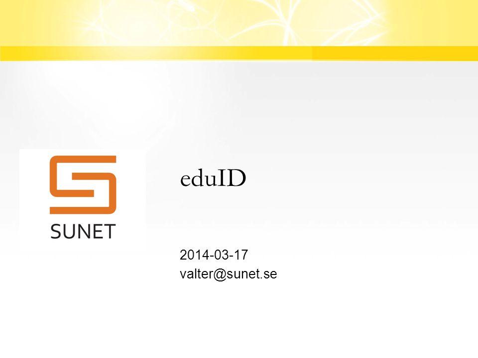 Agenda  eduID bakgrund  eduID inkl ID-proofing rutiner  Demo av pilotuppsättningen