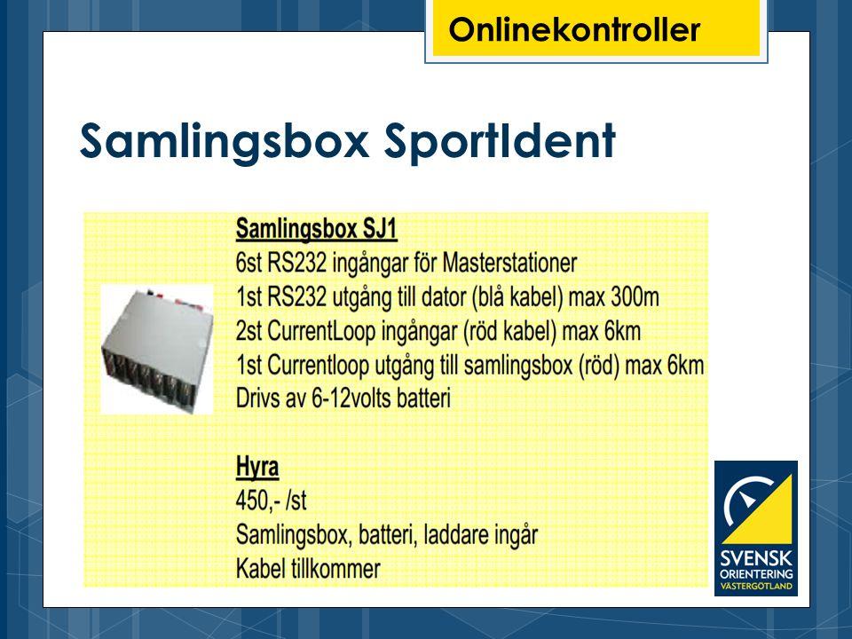 Onlinekontroller Samlingsbox SportIdent
