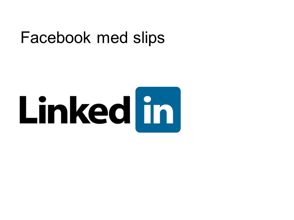 Facebook med slips