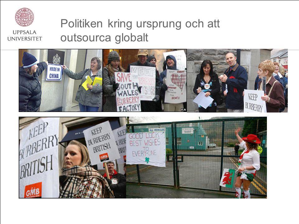 Politiken kring ursprung och att outsourca globalt