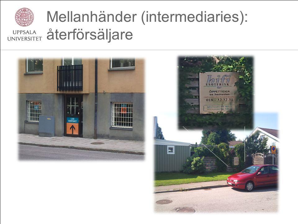 Mellanhänder (intermediaries): återförsäljare