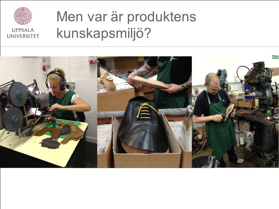 Men var är produktens kunskapsmiljö?