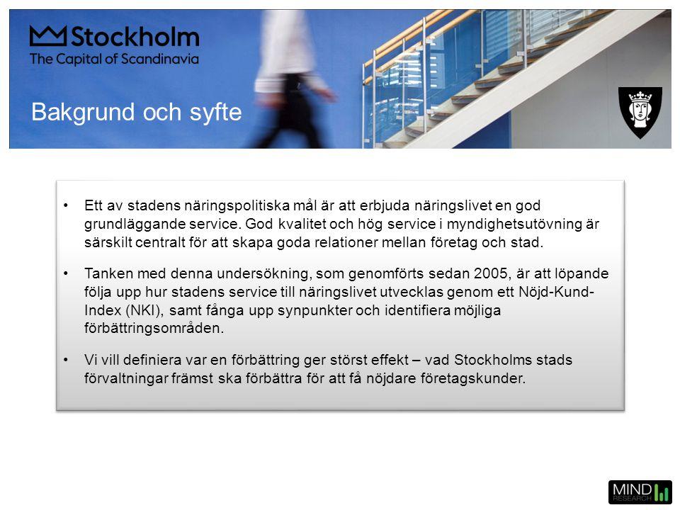 NKI efter företagsstorlek Hela staden SvarsfördelningAntal 201430%16%25%9%20%100%1674 201335%19%27%7%12%100%761 201232%18%30%7%13%100%558 = 2014 = 2013 = 2012 NKI är högre 2014 än 2013.