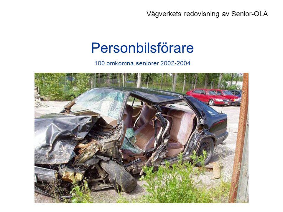 Personbilsförare 100 omkomna seniorer 2002-2004 Vägverkets redovisning av Senior-OLA