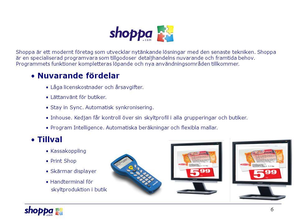 6 Shoppa är ett modernt företag som utvecklar nytänkande lösningar med den senaste tekniken.