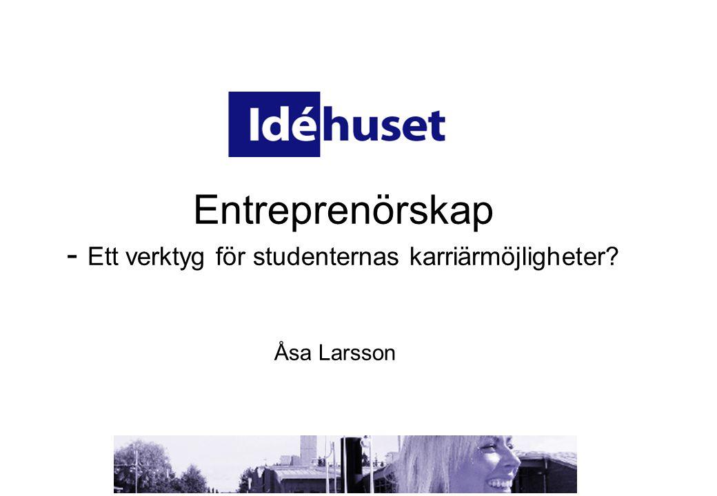 •Idéhusets syfte är att främja entreprenörskap hos studenter och visa på möjligheterna med egetföretagande.