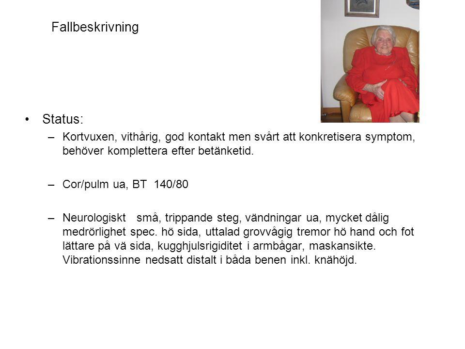 Fallbeskrivning hämatologi •Bakgrund –67-årig vital man med genomgången diafragmal hjärtinfarkt för 7 år sedan.