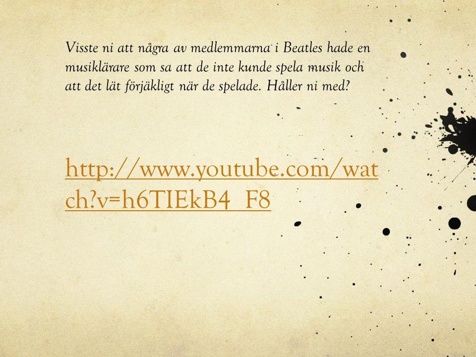 http://www.youtube.com/watch?v=TU7JjJJZi1 Qhttp://www.youtube.com/watch?v=TU7JjJJZi1 Q Mer musik.