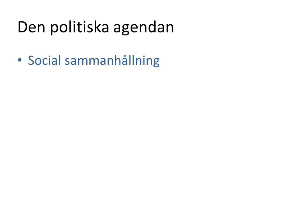 Den politiska agendan • Social sammanhållning