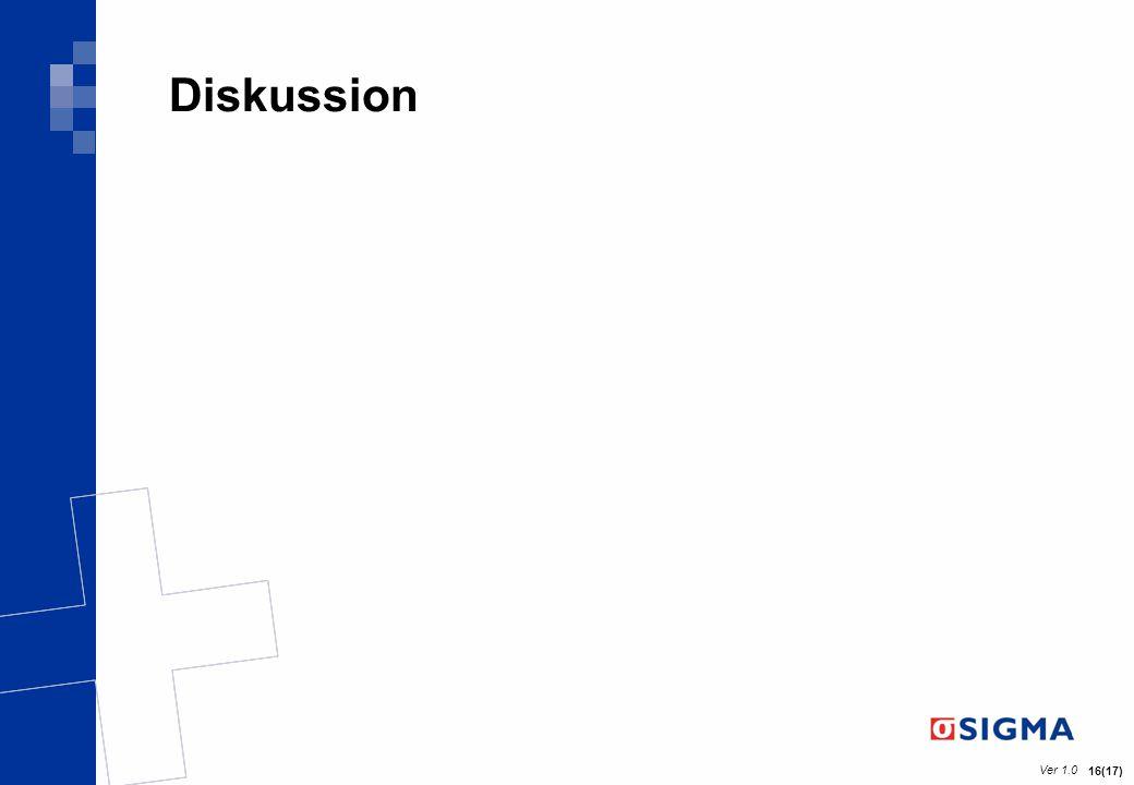 Ver 1.0 16(17) Diskussion