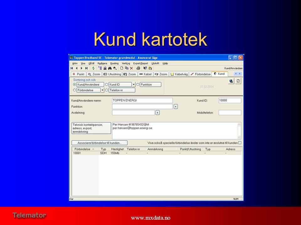 www.mxdata.no Kund kartotek
