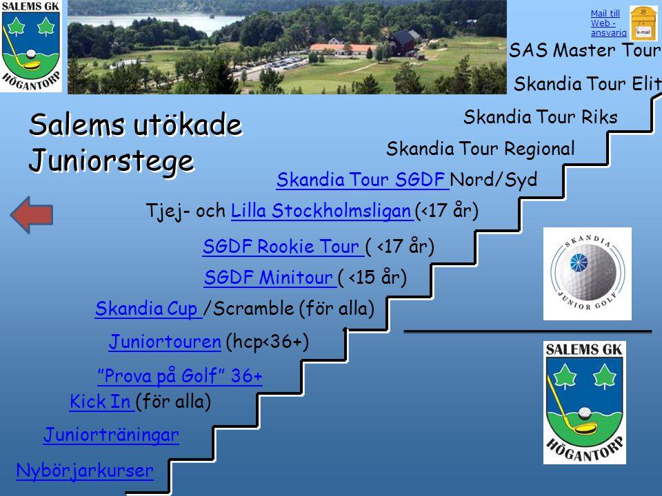 Salems utökade Juniorstege Skandia Cup Skandia Cup /Scramble (för alla) SGDF Minitour SGDF Minitour ( <15 år) SGDF Rookie Tour SGDF Rookie Tour ( <17