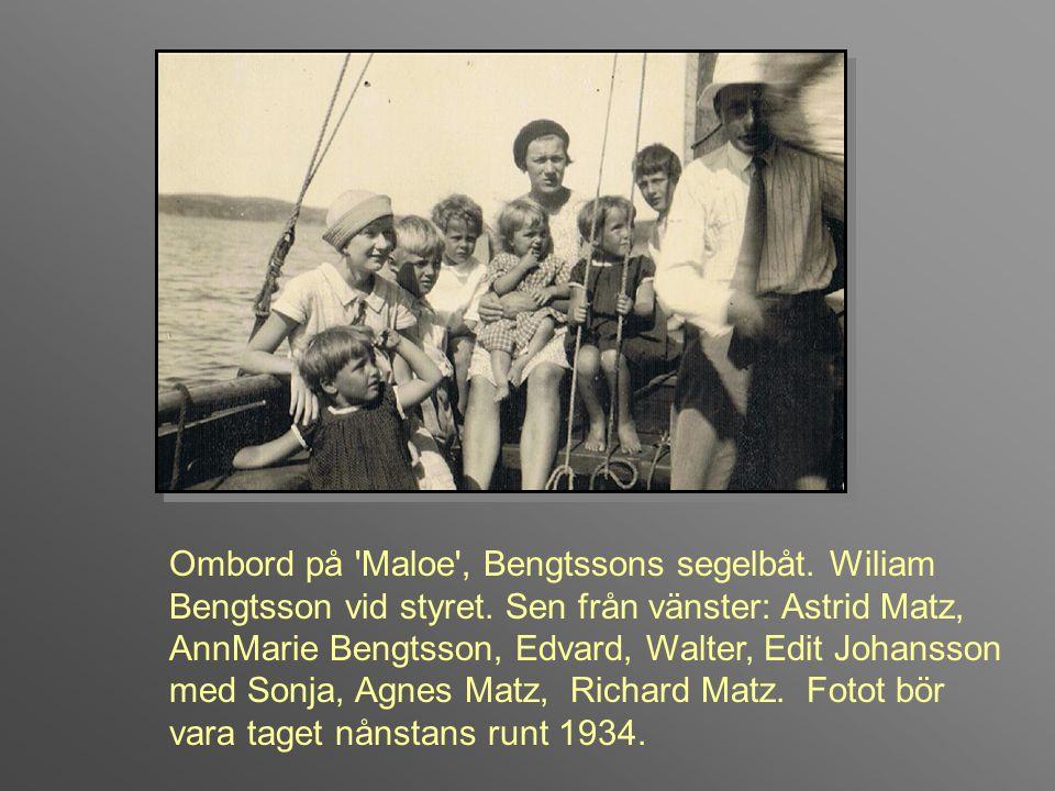 slut Ramsviks flagga är hissad den 13 juli 1926, på Agnes och Astrid Matz födelsedag.