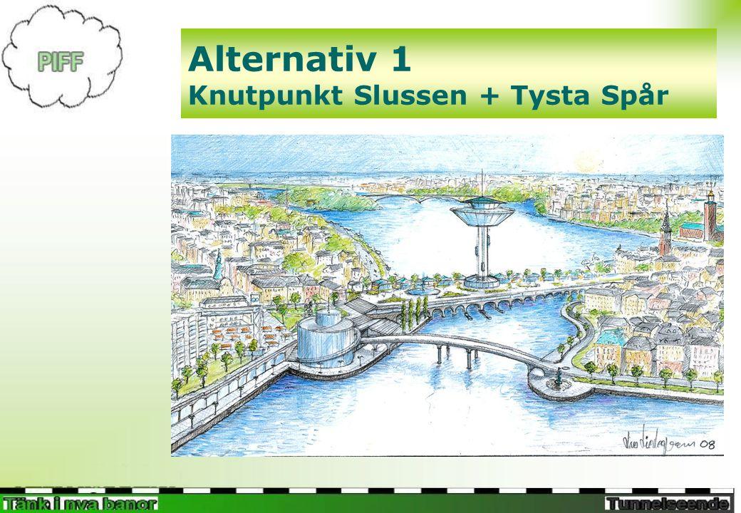 Alternativ 1 Knutpunkt Slussen + Tysta Spår