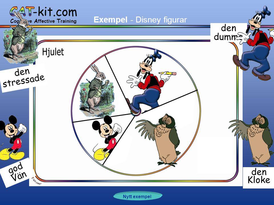 C ognitive A ffective T raining Nytt exempel den dumme den Kloke god Vän den stressade Exempel - Disney figurar