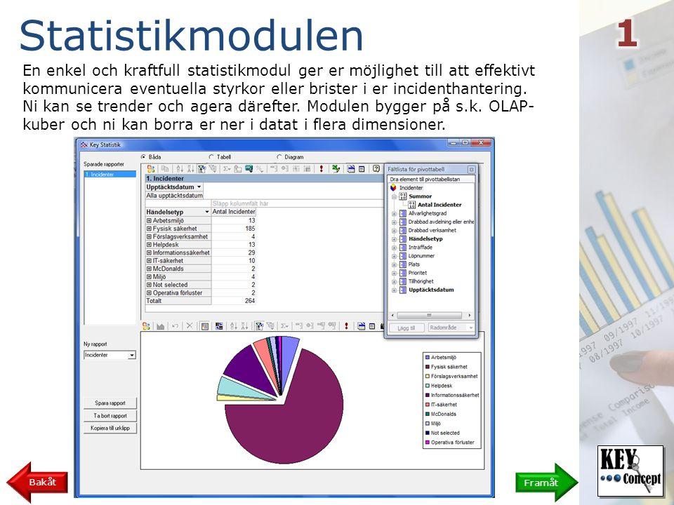 Skapa en rapport 10 Bakåt När du vill börja justera diagrammet väljer du lämpligast att bara visa Diagram så att du får mer utrymme på skärmen.