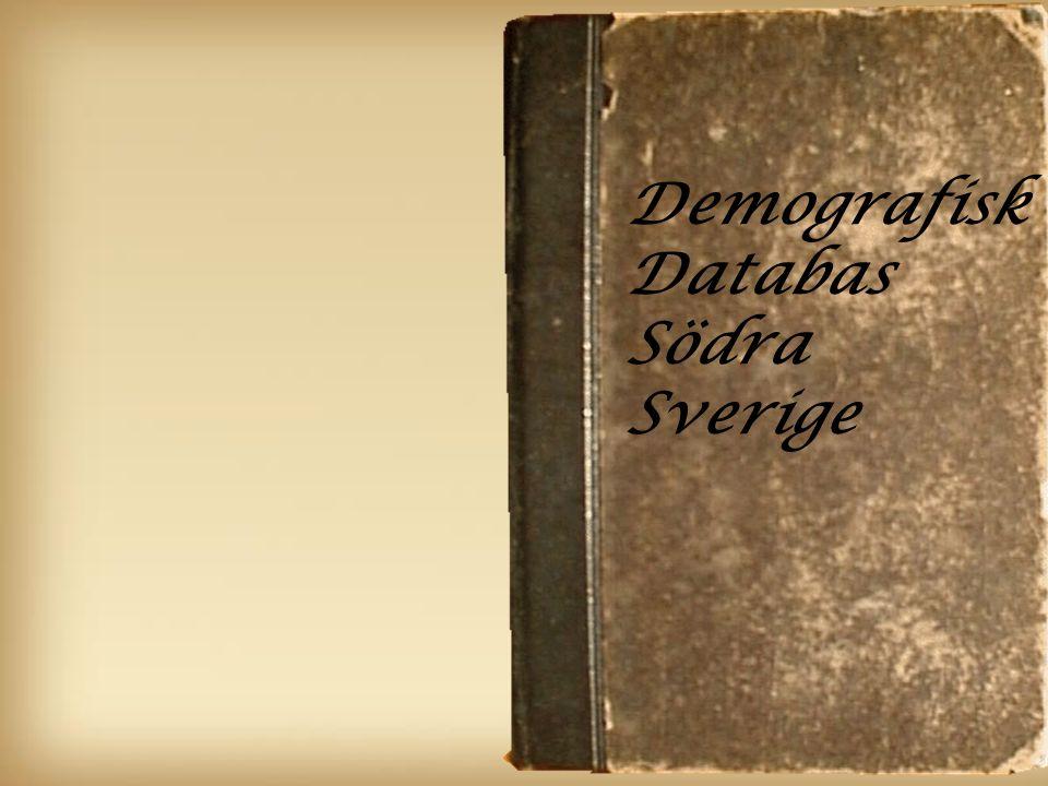 1 Demografisk Databas Södra Sverige