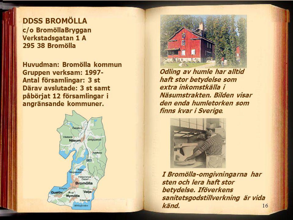16 Odling av humle har alltid haft stor betydelse som extra inkomstkälla i Näsumstrakten. Bilden visar den enda humletorken som finns kvar i Sverige.