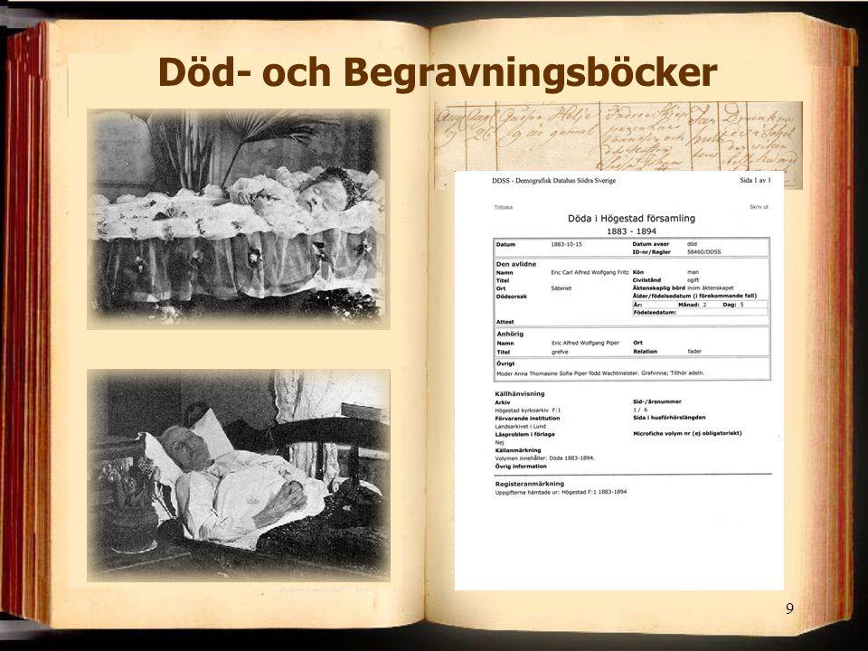 9 Död- och Begravningsböcker