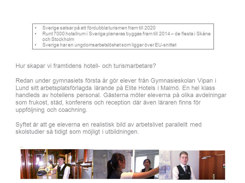 Hur skapar vi framtidens hotell- och turismarbetare? Redan under gymnasiets första år gör elever från Gymnasieskolan Vipan i Lund sitt arbetsplatsförl