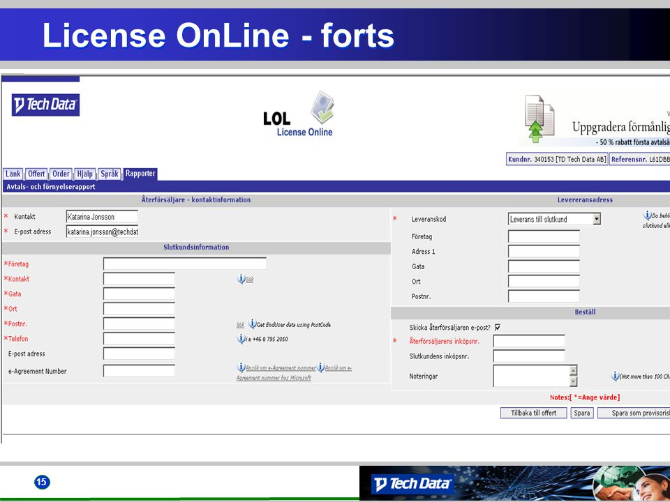 15 License OnLine - forts
