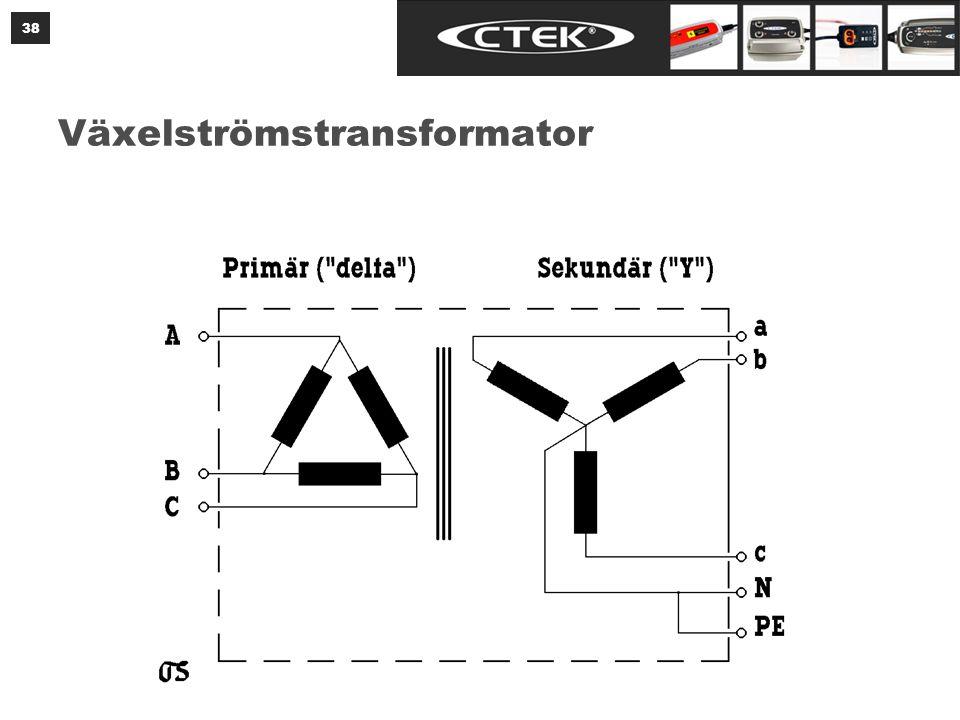 Växelströmstransformator 38